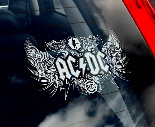 AC-DC - Car Window  Sticker - ACDC Rock Limited Edition Sign NEW