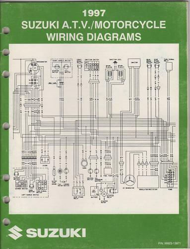 1997 Suzuki Motorcycle  U0026 Atv Wiring Diagram Manual