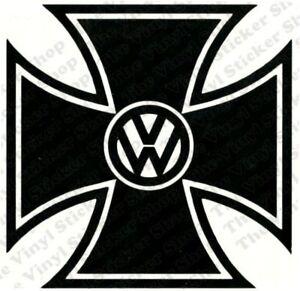 VW-Iron-Cross-Novelty-Vinyl-Car-Sticker-Decal-Ideal-for-VW-Volkswagen