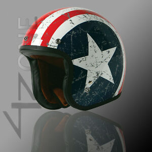 TORC-3-4-OPEN-FACE-BLUE-WHITE-STAR-RETRO-VINTAGE-MOTORCYCLE-SCOOTER-HELMET-XXL