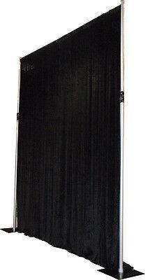 Black velveteen drape 6m drop x 5m width - stage exhibiton theatre