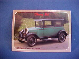 1927-Chevy-Capitol-Series-AA-Coach-collector-card-from-series-mint-brand-new-27