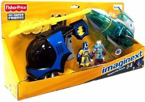 FISHER-PRICE-IMAGINEXT-DC-SUPER-FRIENDS-BATCOPTER-amp-MR-FREEZE-JET-Exclusive-Set