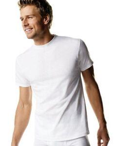 Hanes-Men-039-s-White-TAGLESS-Crewneck-T-Shirt-5-Pack-style-2135P5