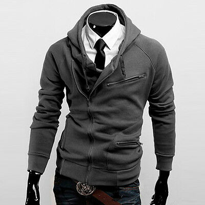Unique Mens Slim Fit Sexy Top Designed Hoodies Jackets Coats 4Color 4Size