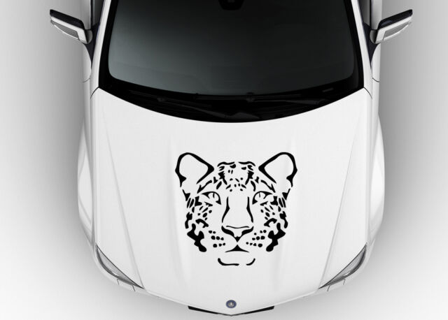 HOOD CAR VINYL DECAL ART STICKER GRAPHICS WILD ANIMAL TRIBAL  JAGUAR K1260