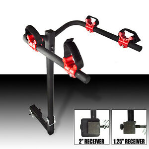 New-2-Bike-Rack-Hitch-1-4-034-2-034-Receiver-Stand-Mount-Carrier-Car-Truck-Bicycle