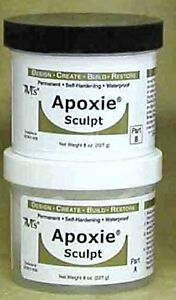 Apoxie Sculpt Modeling Clay, Two Part expoxy clay1 lb. Silver Grey
