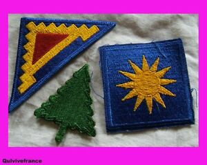 IN1787-LOT-DE-4-PATCHES-USA