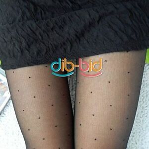Women-With-Dot-Patterns-Pantyhose-Tights-Stockings-02-SSUS