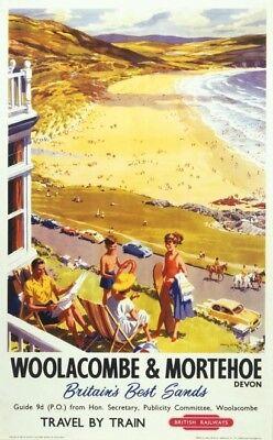 Woolacombe and Mortehoe, Devon, British Railways Poster
