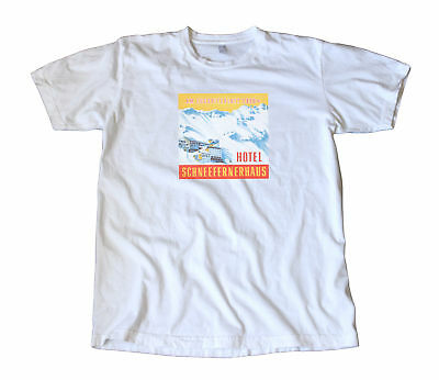 Zugspitze Germany Vintage Travel Decal T-Shirt Skiing!