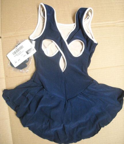 NWT SKATE DANCE BATON CLOVERLEAF BACK DRESS 2 COLOR  pretty back ch//ladies