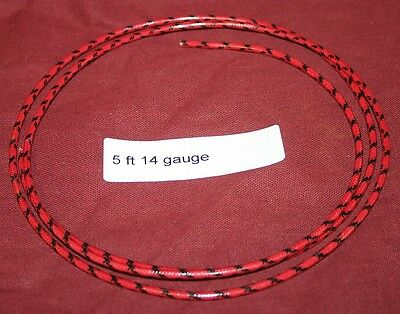 5 ft 14 ga Primary Red w/black Wire Hit & Miss Engine gas Motor Ignition Spark