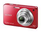Sony  Cyber-shot DSC-W560 14.1 MP Digital Camera - Red
