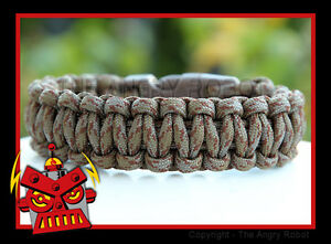 550-Paracord-Survival-Bracelet-Cobra-Copperhead-brown-buckle