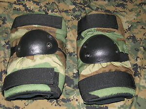 made-in-USA-elbow-pads-new-woodland-BDU-size-MEDIUM-BIJAN-paintball-gear