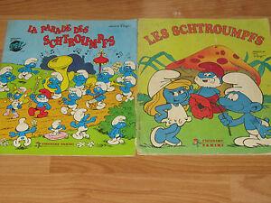 lot-2-albums-panini-la-parade-des-Schtroumpfs-et-les-Schtroumpfs-incomplets