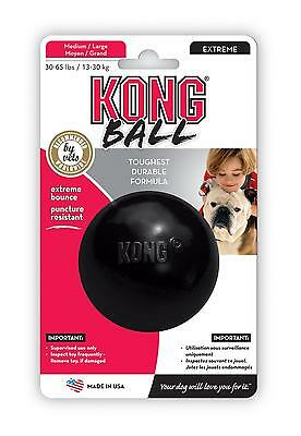 "KONG Dog DURABLE Rubber Ball Toy 3"" Medium / Large"
