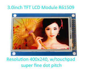 3-0-034-inch-TFT-LCD-module-16-9-400x240-w-touchpad-PCB-adapter-arduino-AVR-3-2-3-5