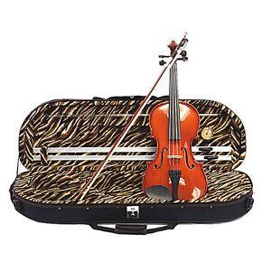 4-4-Violin-Half-Moon-Case-Bow-Rosin-String-set-Gift-TR