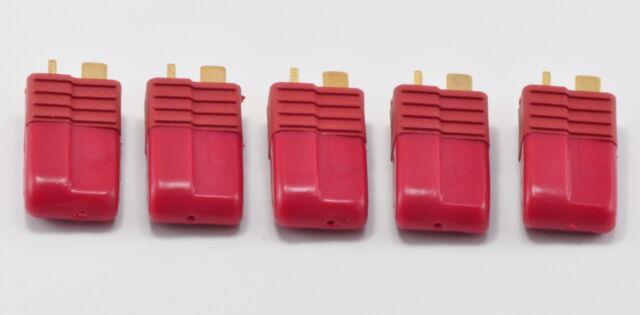 Combo Pack: 5 Pair Male T-Plug Connectors & Rubber Caps