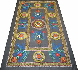 MC3-Orient-Antique-Silk-Embroidered-Uzbek-Suzani-Vintage-Embroidery-Wall-Hanging
