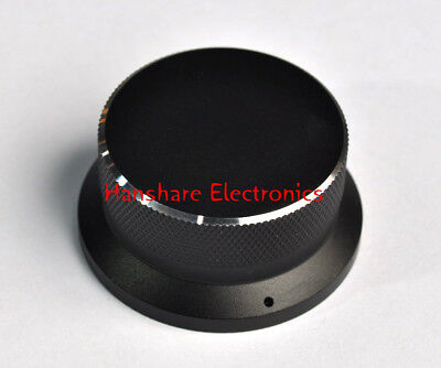 1 Solid Aluminum Knob 51x24 mm Potentiometer Alps black volume control amplifier