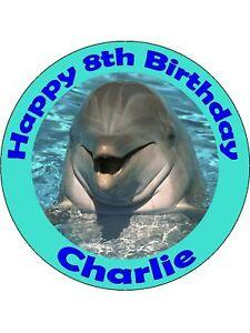 Edible Dolphin Cake Topper