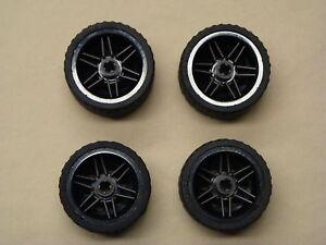 NEW-4-Lego-NXT-Technic-Wheels-TIRES-RIMS-37-x-22-LARGE