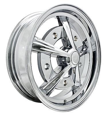 EMPI Raider Rim 5 X 15 Chrome wheel VW bug Type 1 2 3
