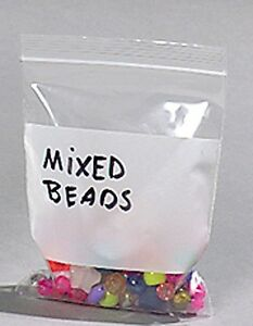 100-2-034-x3-034-Ziplock-Bags-w-White-Block-Poly-Plastic-Jewelry-2-MIL-BEST-QUALITY