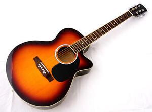 New-Crescent-PRO-YMG-41-034-Adult-SIZE-SUNBURST-Acoustic-Guitar-Accessories