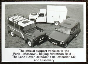 LAND-ROVER-DEFENDER-110-130-DISCOVERY-PRESS-PHOTOGRAPH-BLACK-WHITE-90-91