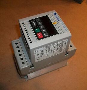 Allen bradley 160 vfd 160 ba03nps1p1 1hp 460v ser c ebay for Vfd for 1hp motor