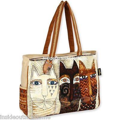 Laurel Burch Cat Ancestral Native Oversize Tote Travel Sport Bag New