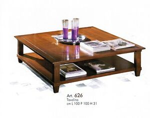 Tavolino Basso In Legno.Tavolino Basso In Legno Da Salotto In Vari Colori Cm 100x100 Ebay