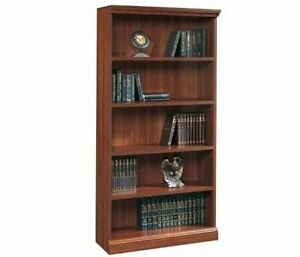 Traditional-bookcase-bookshelf-Planked-Cherry-durable-classic-library-36-034-wide