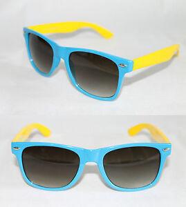 Mens Yellow Frame Sunglasses : Mens Womens Wayfarer Sunglasses Light blue Yellow frame ...