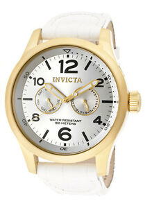 Invicta-Watch-12174-Men-039-s-Specialty-18k-Gold-Plated-Stainless-Steel-Genuine