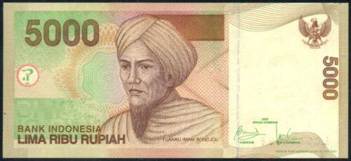 INDONESIA  5000 5,000  RUPIAH  2009     P  142i   Uncirculated Banknotes