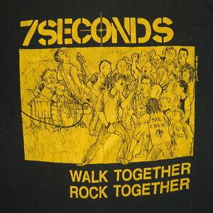 VTG-7-SECONDS-1984-ORIGINAL-WALK-TOGETHER-ROCK-TOGETHER-T-SHIRT-CONCERT-PUNK-80S