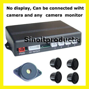 Wired-Parking-4Sensor-Reverse-Buzzer-Alarm-VIDEO-IN-OUT-Camera-Various-Color