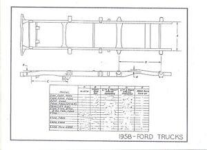 57 58 59 60 ford truck nos frame dimensions align specs | ebay