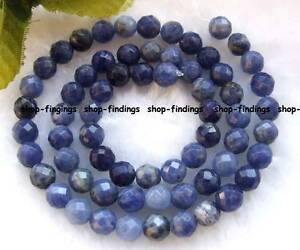 6mm-blue-natural-sodalite-faceted-round-gemstone-Beads-15-034-high-quality