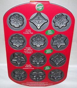 Wilton-SNOWFLAKE-Cookie-Pan-CHRISTMAS-HOLIDAY-Brand-New-w-Recipe