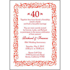 40th Wedding Anniversary Gift Ideas New Zealand : ... Garden > Greeting Cards & Party Supply > Other Gift & Party...