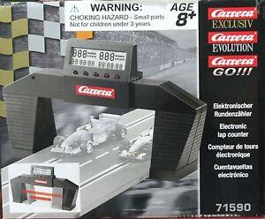 CARRERA 71590 ELECTRONIC LAP COUNTER / TIMER 1/43 1/24 1/32 SLOT CAR TRACK TIMER