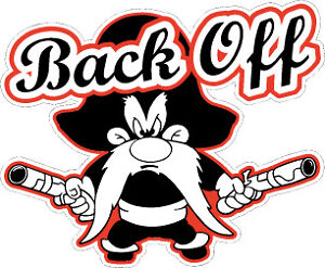 Yosemite-Sam-034-BACK-OFF-034-CAR-TRUCK-BUMPER-STICKER-DECAL