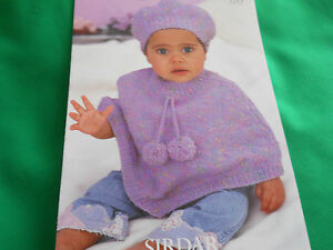 Baby-039-s-poncho-and-beret-size-16-26-knitting-pattern
